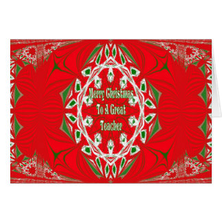Cartão de professor do Natal
