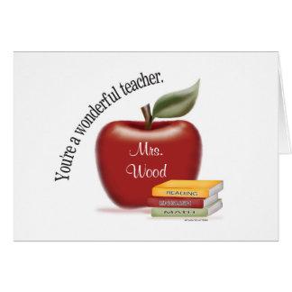 Cartão de professor maravilhoso