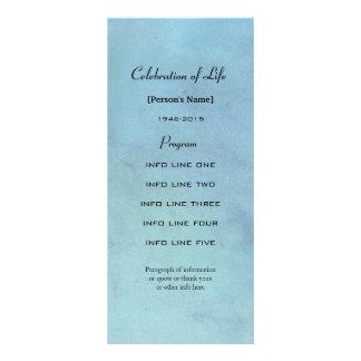 Cartão de programa azul da aguarela da cerimonia