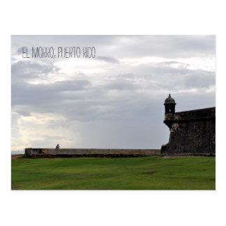 Cartão de Puerto Rico dos amantes do EL Morro