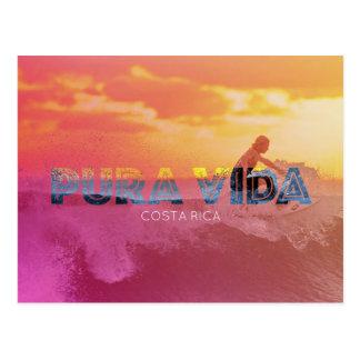 Cartão de Pura Vida do surfista de Costa Rica