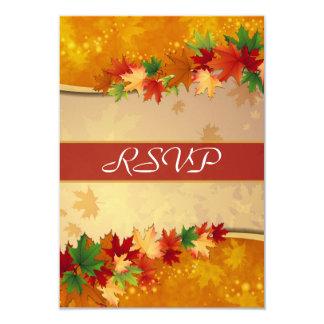 Cartão de queda das folhas de bordo RSVP Convite 8.89 X 12.7cm