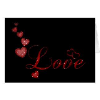 Cartão de queda vermelho dos namorados do amor dos