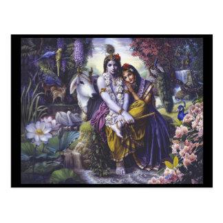 Cartão de Radha Krishna