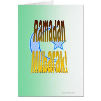 Cartão de Ramadan