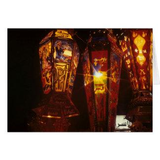 Cartão de Ramadan das lanternas de Ramadan