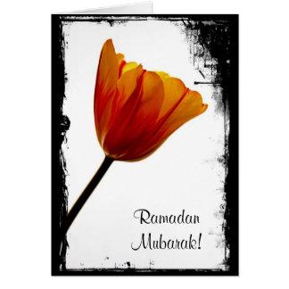 Cartão de Ramadan Mubarak - personalizado