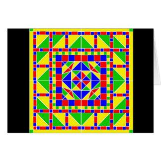Cartão de Rangoli 2 Diwali das cores preliminares