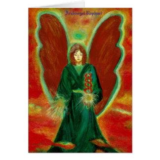 Cartão de Raphael do arcanjo