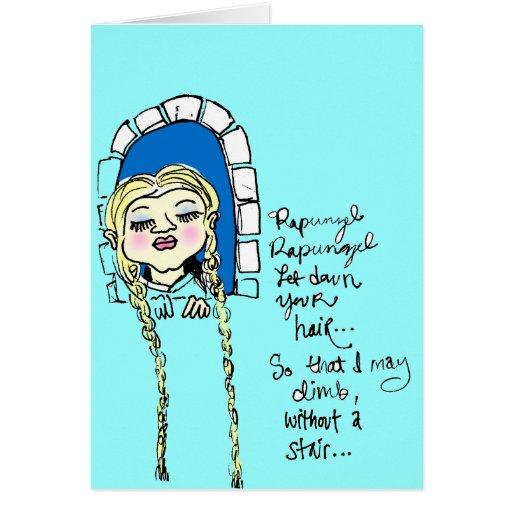 Cartão de Rapunzel