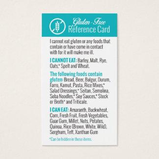 Cartão de referência sem glúten