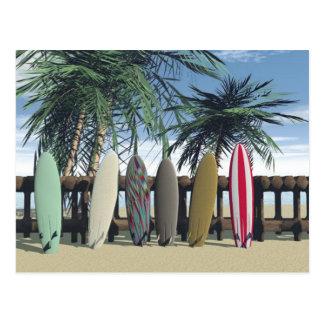 Cartão de relaxamento do surf