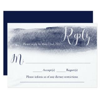 Cartão de resposta do casamento da aguarela dos convite 8.89 x 12.7cm