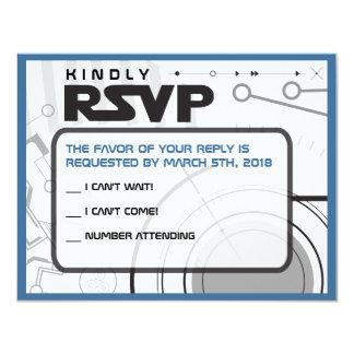 Cartão de resposta do convite de Mitzvah do bastão