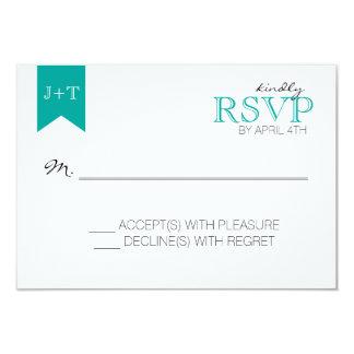 Cartão de resposta moderno do casamento com teste convite 8.89 x 12.7cm