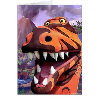 Cartão de Rex do tiranossauro