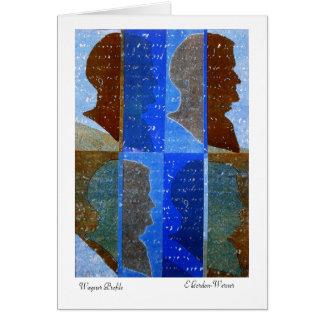 Cartão de Richard Wagner: Colagem no azul