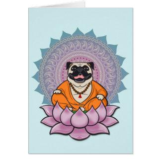 Cartão de riso da mandala do Pug