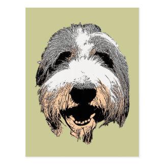 Cartão de riso do pop art do cão