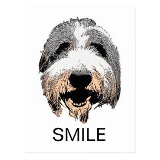 Cartão de riso do SORRISO do cão