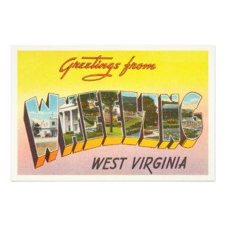 Cartão de roda das viagens vintage de West Impressão De Foto