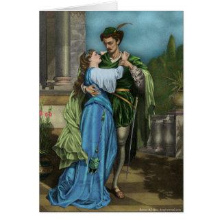Cartão de Romeo e de Juliet