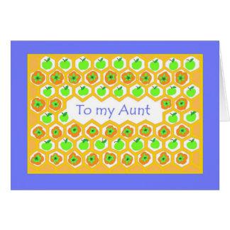 Cartão de Rosh Hashanah para uma tia