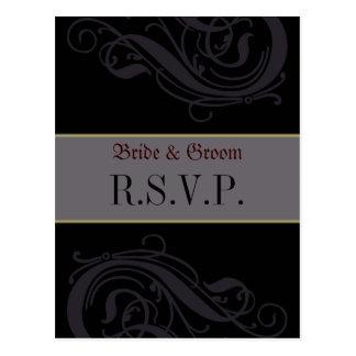 Cartão de RSVP Cartões Postais