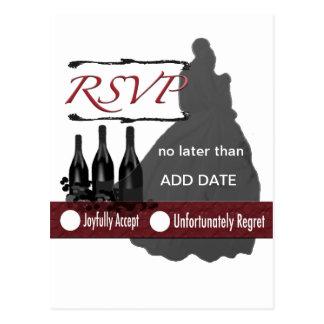 Cartão de RSVP (casamento) Cartoes Postais