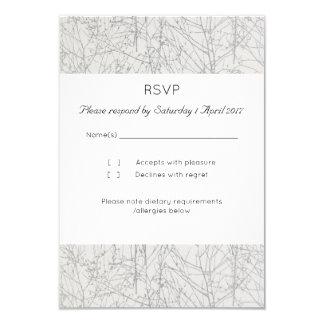 """Cartão de RSVP da """"árvore"""" da prata"""