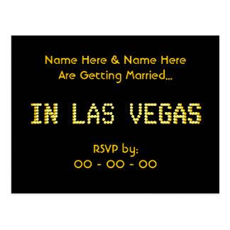 Cartão de RSVP. Preto & amarelo.  Wedding. de Las