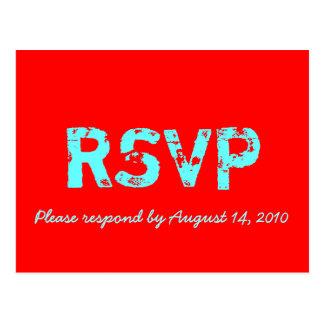 Cartão de RSVP retro