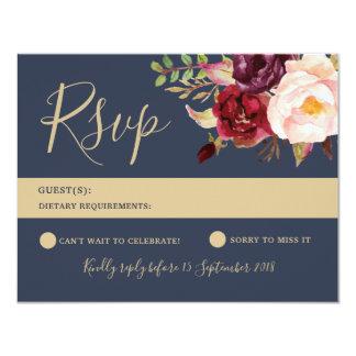 Cartão de RSVP - série de Lucy