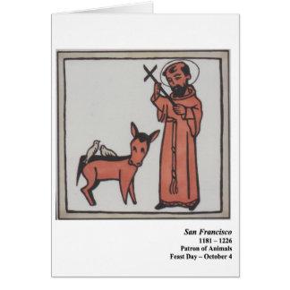 Cartão de San Francisco Santo