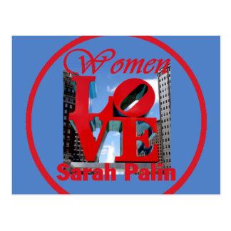 Cartão de Sarah do amor das mulheres