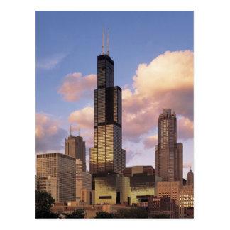 Cartão de Sears Tower - torre de Willis - Chicago