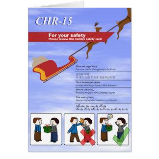 Cartão de segurança do feriado