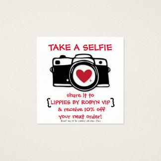 Cartão de Selfie do disconto - cartão com fotos -