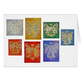 Cartão de série da cor do anjo