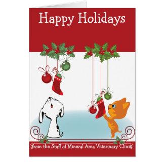 Cartão De seus animais de estimação veterinários dos