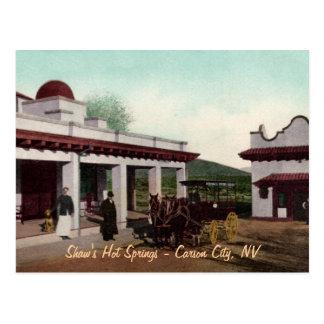 Cartão de Shaws Hot Springs