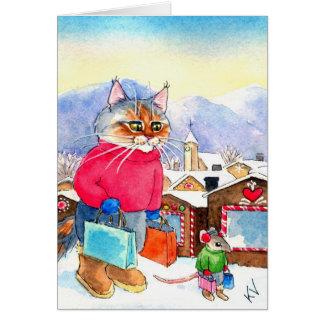 Cartão de Shopaholics do Natal