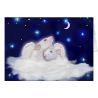 Cartão de simpatia angélico de Ratties