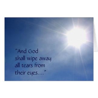 Cartão de simpatia claro brilhante da revelação 21