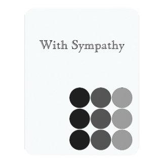 Cartão de simpatia convite 10.79 x 13.97cm
