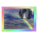 Cartão de simpatia da perda do animal de estimação