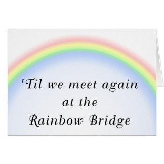 Cartão de simpatia da ponte do arco-íris