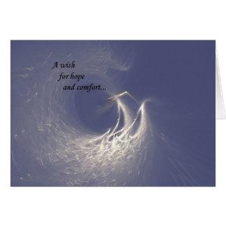 Cartão de simpatia das asas do anjo