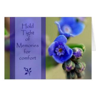 Cartão de simpatia das memórias