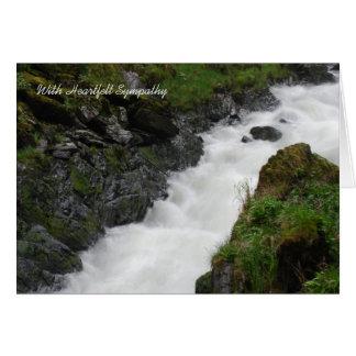Cartão de simpatia de fluxo rápido de Alaska da